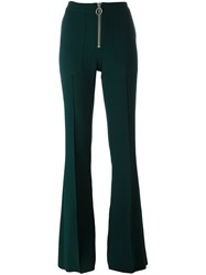 Marques Almeida Marques'almeida Zip Up Flared Trousers Green