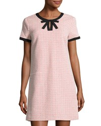 Cynthia Steffe Brandy Tweed Shift Dress Coral Pop