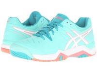 Asics Gel Challenger 10 Cockatoo White Flash Coral Women's Shoes Blue
