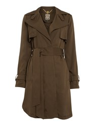 Biba Lightweight Premium Button Detail Mac Khaki