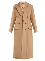 Maison Martin Margiela Deconstructed Wool Blend Coat Beige