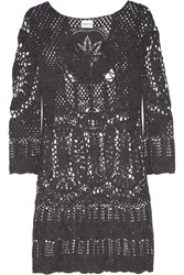 Lisa Maree Intertwined Lives Crocheted Cotton Coverup Gray