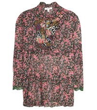 Coach Floral Printed Silk Blouse Multicoloured
