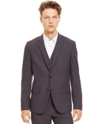 Kenneth Cole Reaction Two Button Grid Blazer
