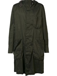Ziggy Chen Hooded Parka Green