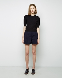 3.1 Phillip Lim Silk Combo Shorts Dark Navy