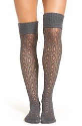 Oroblu Women's 'Janet' Knit Over The Knee Socks Grey Melange