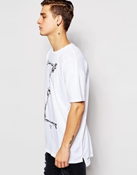 Zee Gee Why T Shirt Lurch Oversized Fit Z Bones Print Zboneswhite