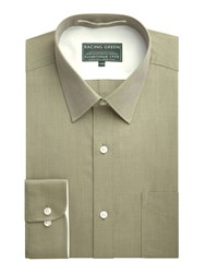 Racing Green Jenson End On End Formal Shirt Green