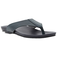 Dune Inkfish Leather Toe Post Sandals Navy