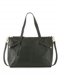 Foley Corinna Bandeau Large Leather Satchel Bag Evergreen