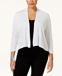 Inc International Concepts Plus Size Shawl Collar Cardigan Sweater Only At Macy's White
