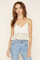Forever 21 Floral Lace Peplum Cami