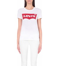 Levi's The Perfect Cotton Jersey T Shirt Batwing Bright White