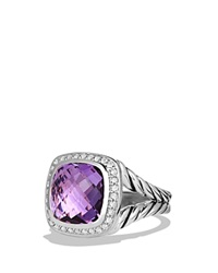 David Yurman Ring With Amethyst And Diamonds Purple Silver