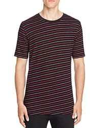 Rag And Bone Colin Diagonal Stripe Tee Black Red
