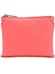 Rag And Bone Top Zip Purse Red