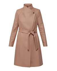 Ted Baker Aurore Long Wrap Coat Camel