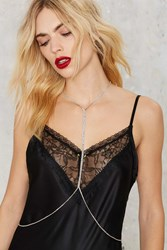 Nasty Gal A Heart Of Rhinestone Body Chain