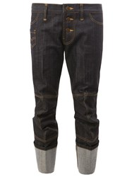 Christopher Nemeth Folded Cropped Jeans Blue