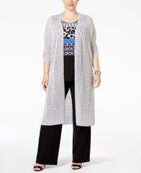 Alfani Plus Size Duster Cardigan Only At Macy's New City Silver