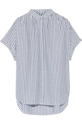 Madewell Striped Cotton Chambray Shirt White