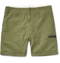 Neighborhood Slim Fit Cotton Ripstop Shorts Green