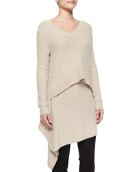 Derek Lam Cashmere Layered Asymmetric Ribbed Tunic