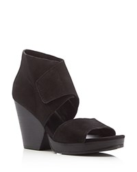 Eileen Fisher Clip Open Toe High Heel Sandals Black