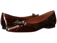Cole Haan Alice Bow Skimmer Tortoise Patent Women's Shoes Brown