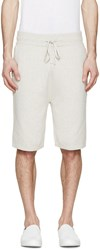 Helmut Lang Grey Knit Panelled Shorts