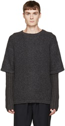 Opening Ceremony Grey Double Layer Sweater