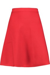Roland Mouret Nile Stretch Knit Mini Skirt Red