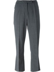 John Galliano Vintage Cropped Pinstripe Trousers Grey