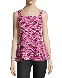 Plenty By Tracy Reese Ikat Back Tie Tank Orchid