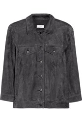 Title A Suede Jacket Gray