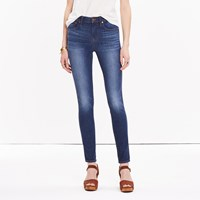 Madewell 9 High Rise Skinny Jeans In Polly Wash