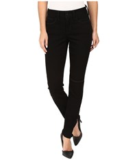Nydj Ami Super Skinny Jeans In Future Fit Denim Bloomsbury Slash Wash Women's Jeans Black