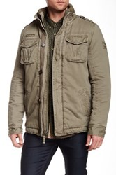 Triple Five Soul Stand Up Collar Cargo Jacket Green