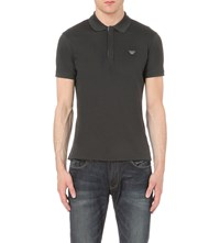 Armani Jeans Cotton Jersey Polo Shirt Grey