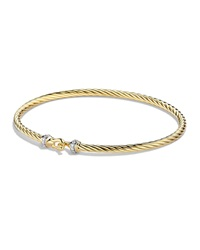 Cable Collectibles Buckle Bracelet With Diamonds In Gold David Yurman