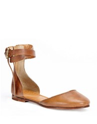 Frye Carson Knotted Ballet Flats Tan