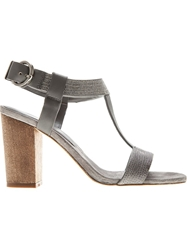 Lola Cruz Embellished Sandals Grey