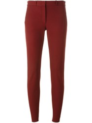Joseph Cropped Slim Trousers Red