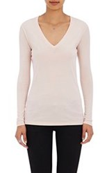 Barneys New York V Neck Long Sleeve T Shirt Pink