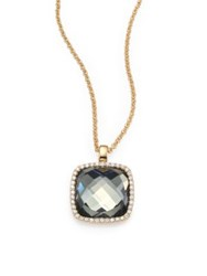 Roberto Coin Cocktail Prasiolite Diamond And 18K Yellow Gold Pendant Necklace