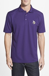 Cutter Buck 'Minnesota Vikings Genre' Drytec Moisture Wicking Polo Big And Tall College Purple