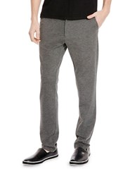 Kenneth Cole Flat Front Knit Pants Heather