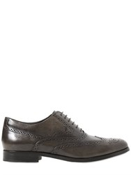 Tod's Brogued Leather Oxford Shoes