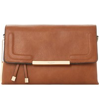 Dune Demory Triple Pocket Cross Body Bag Tan Plain Pu